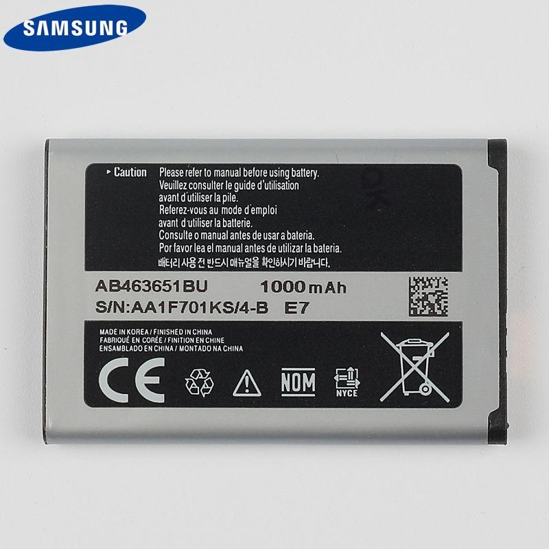 D'origine Samsung Batterie AB463651BU Pour Samsung S5630C S5560 C3518 J800 J808 F339 S5296 L700 W559 S5628 B3410 L708E SGH-L700