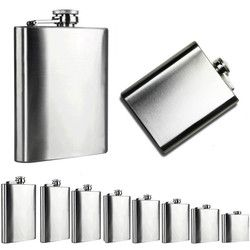 Stainless Steel Hip Flask Flagon Portable Whisky Flasks Wine Pot Bottle Drinkware Alcohol Bottle For Drinker Bar Accessories