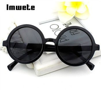 Imwete женские круглые мужские и женские солнечные очки Классические Ретро Покрытие Солнцезащитные очки разноцветные линзы очки зеркальные о...