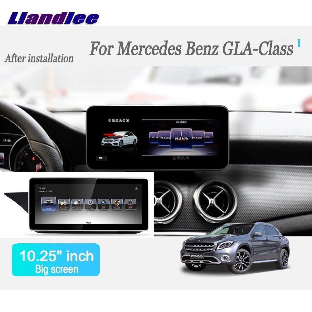 Liandlee Android Car Radio For Mercedes Benz GLA Class 2016~2017 Player GPS Navi Navigation Maps Camera OBD TV Screen no cd dvd