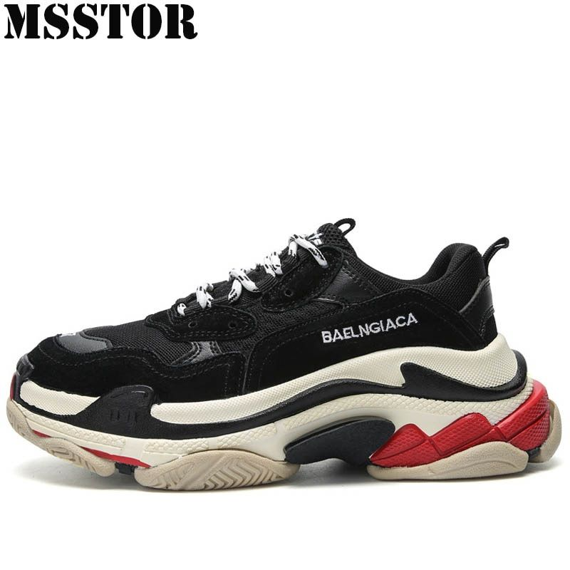 MSSTOR New Women Running Shoes Man Brand Sports Run Outdoor Athletic Sport Shoes For Men Lovers Large Size 34-44 Womens Sneakers