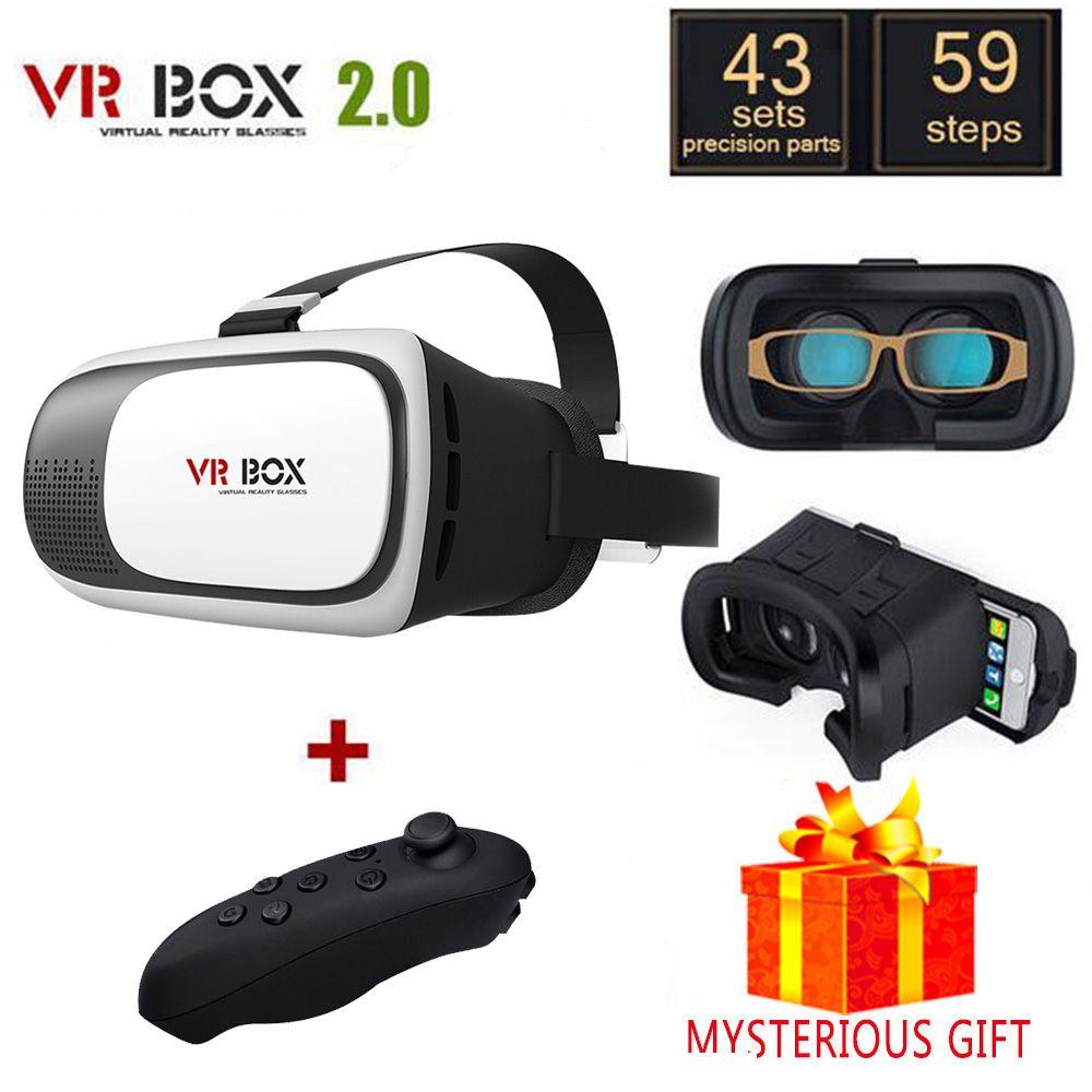 Lunette Vrbox VR Box 2.0 2 II 3D Casque 3 D Virtual Reality Glasses Helmet Goggles Headset For Smart Phone Smartphone Lense Lens