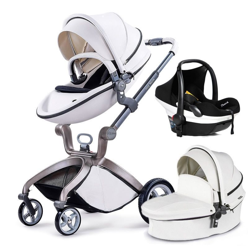 Hot Mom stroller stroller high landscape can sit or lie pneumatic wheels portable baby stroller trolley free delivery