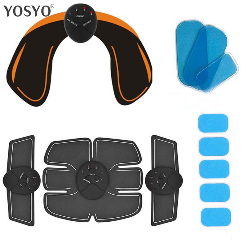 Smart EMS Hips Trainer Electric Muscle Stimulator Wireless Buttocks Abdominal ABS Stimulator Fitness Body Slimming Massager Knit