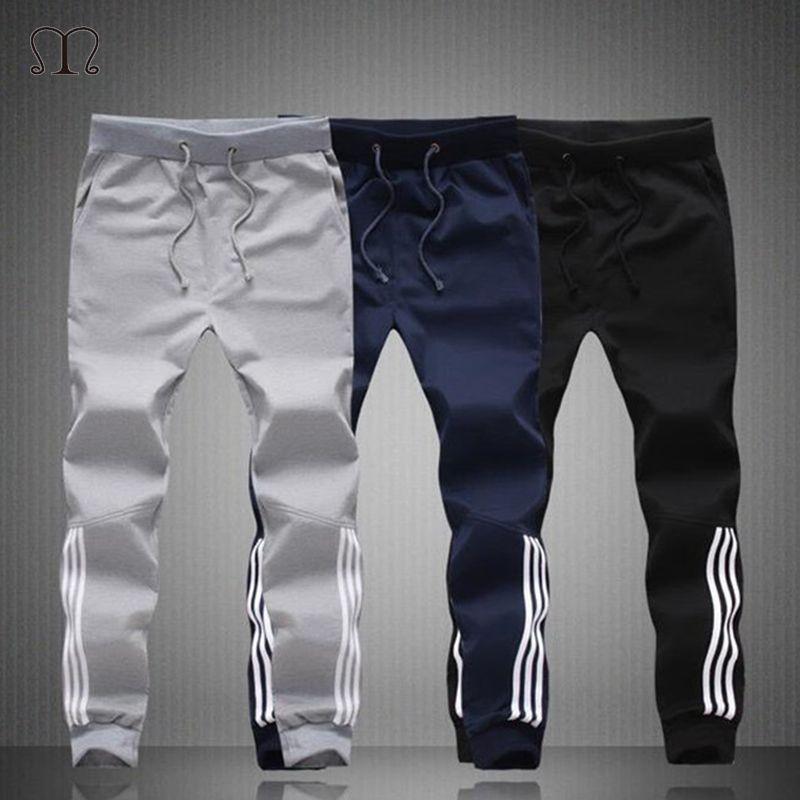 Printemps Eté Hommes Pantalons Mode Skinny Pantalon Hommes Joggers Rayé Slim Équipée Pantalon Gymnases Vêtements Plus Taille 5XL Harem Pantalon