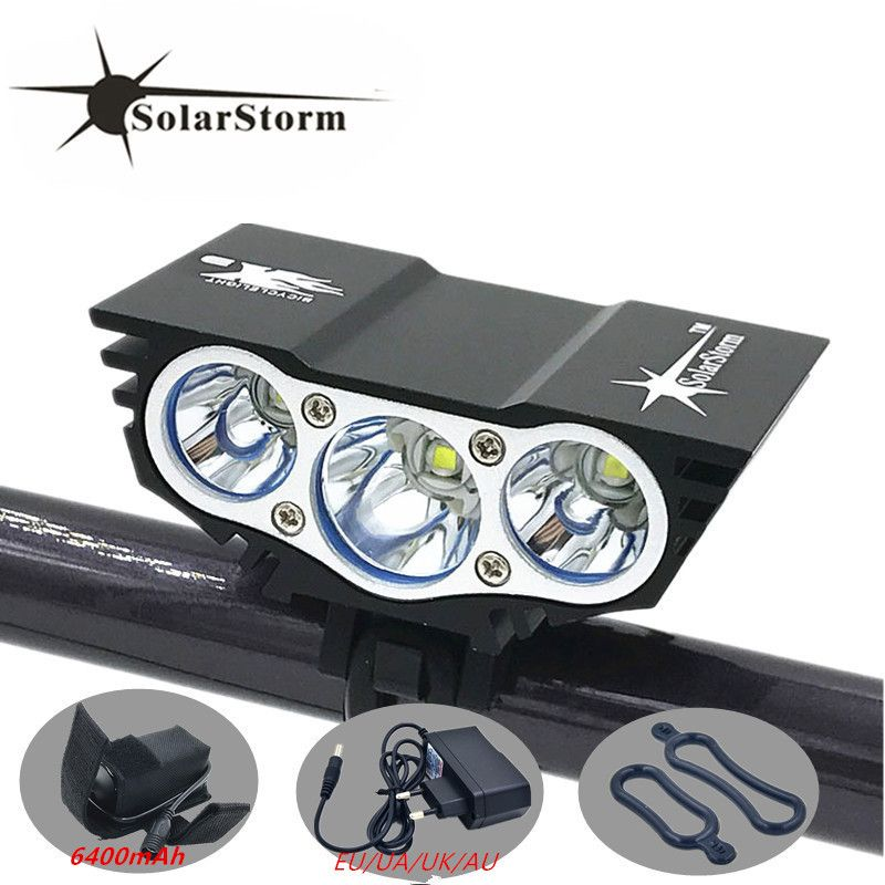 Solarstorm X3 Bicycle 6000 Lumens 4 Mode XM-L T6 LED Cycling Front Light Battery Pack + Charger