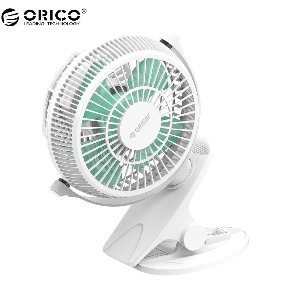 ORICO UF2 USB-Ventilator Mini Elektrischen Ventilator mit Schlüsselschalter Winkel einstellbar-Weiß