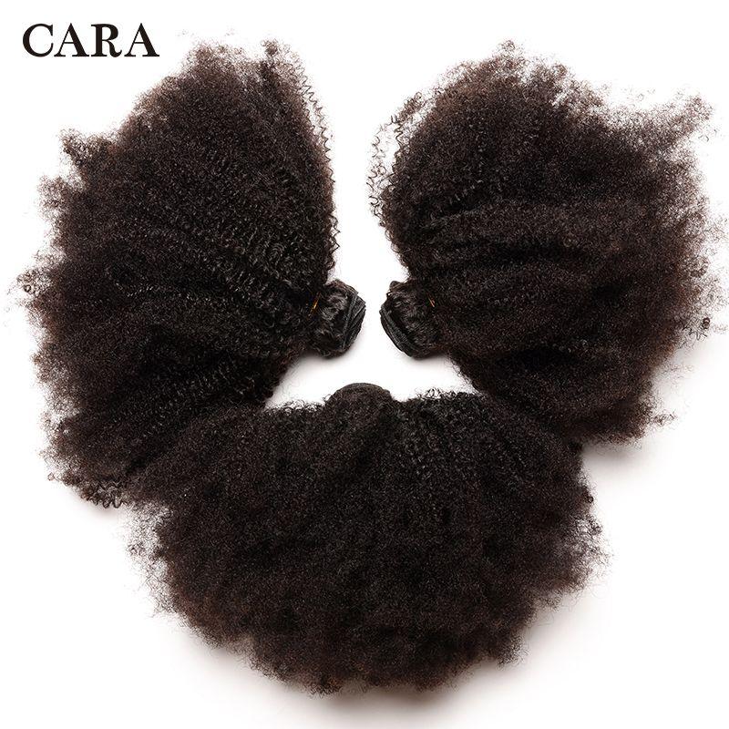Mongol Afro crépus bouclés cheveux humains paquets 4B 4C cheveux armure Remy naturel cheveux humains Extension CARA produits 1 & 3 paquets