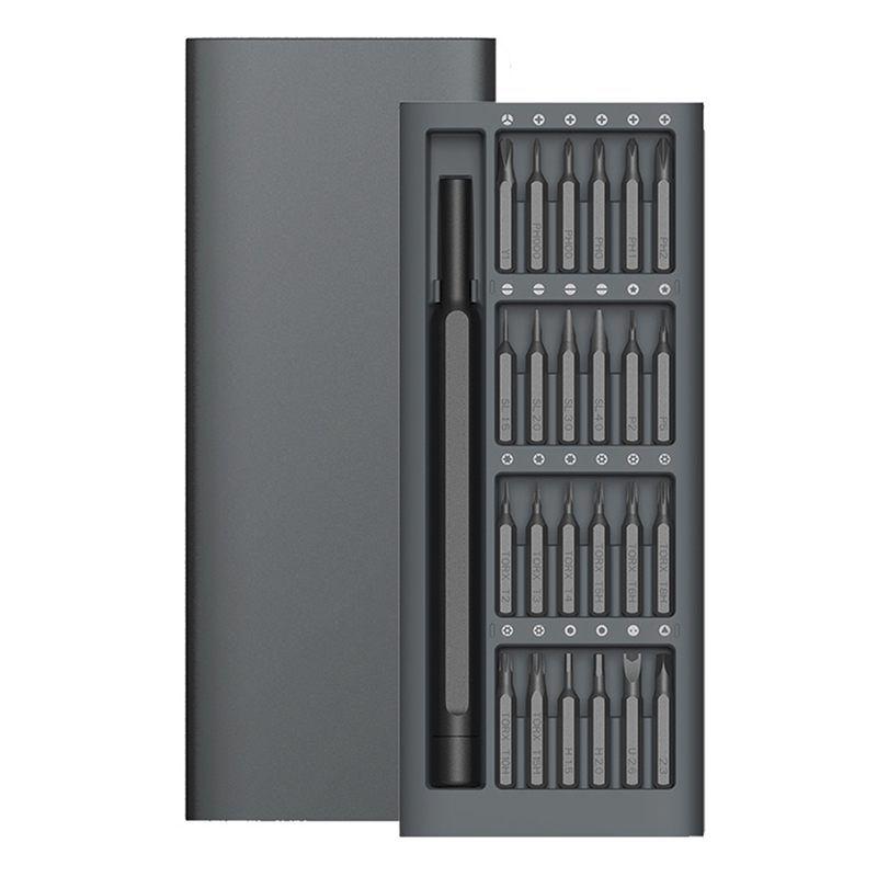 Wiha Kit d'utilisation quotidienne 24 embouts magnétiques de précision boîte en aluminium bricolage tournevis ensemble maison intelligente