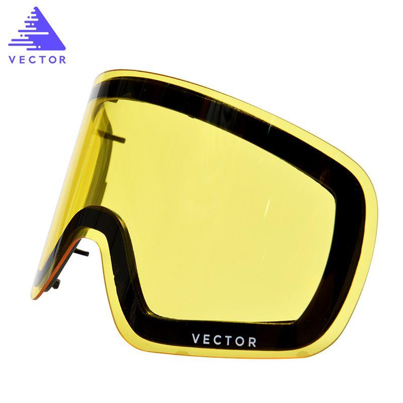 Cet objectif unique pour lunettes de Ski Hxj20011 Anti-buée Interchangeable Double couche cylindrique Protection UV400 Transmission de lumière