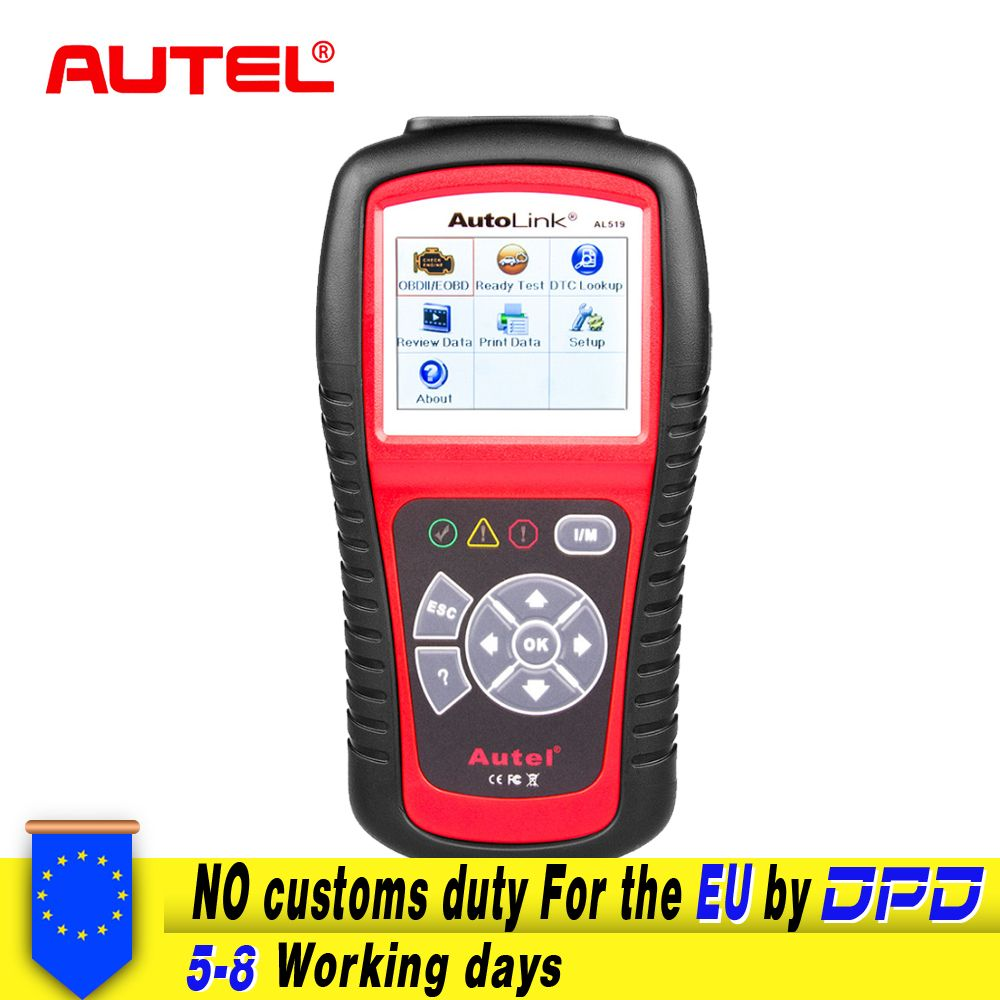 Autel AutoLink AL519 OBD2 Scanner Car DTC Reader Scan AL-519 OBDII Auto Diagnostic-Tool Code Reader OBD 2 II Scanner PK MS509