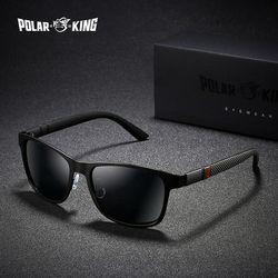 Поляризационные брендовые металлические дизайнерские поляризованные солнцезащитные очки для вождения мужские Квадратные Солнцезащитные...