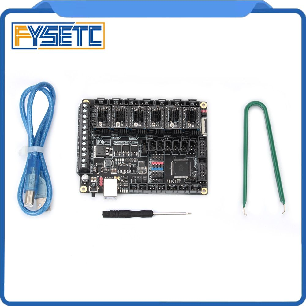 6pcs Stepping Motor Driver ST820+ FYSETC F6 V1.3 Board ALL-in-one Electronics Solution Mainboard For 3D Printer CNC Devices