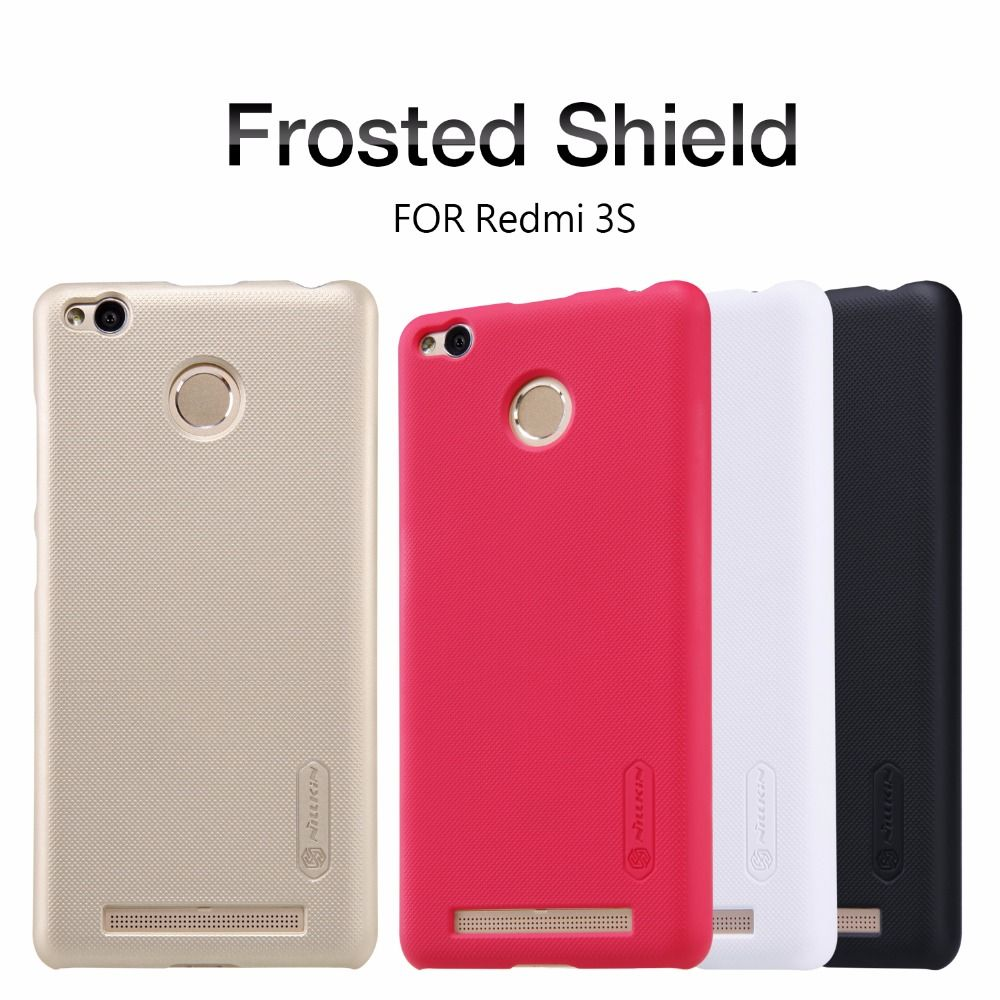xiaomi redmi 3S /3 pro case NILLKIN Super Frosted Shield back cover for redmi 3S with free screen protector and Retail package