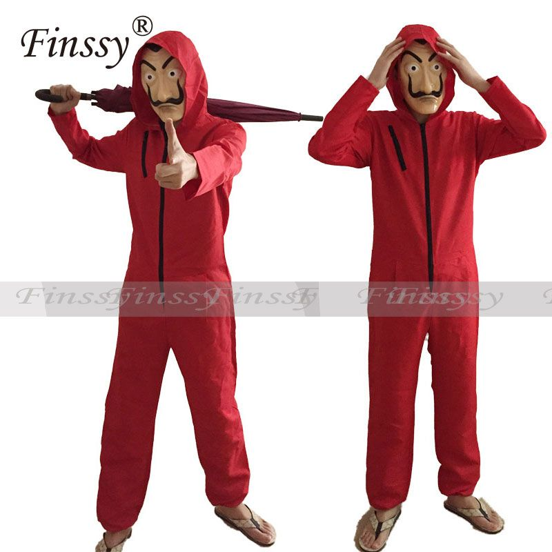 Money Heist The <font><b>House</b></font> of Paper La Casa De Papel Cosplay Costume for Men Women Salvador Dali Costume Halloween Carnival Costume