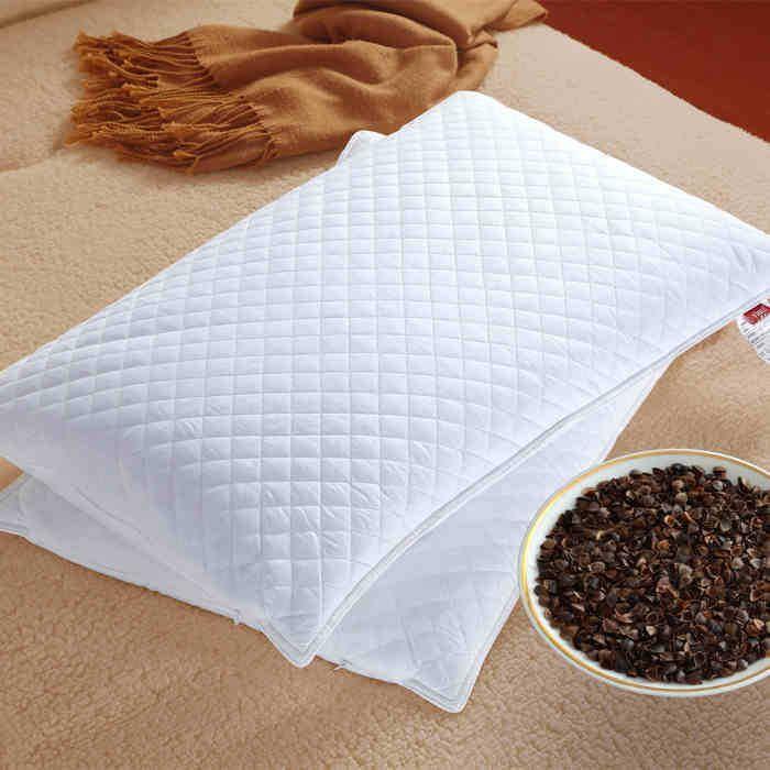 Textile à la maison blanc pillows100 % Oreiller de sarrasin blé dur Oreiller NeckHealth oreiller sarrasin cottonsurface deux fermetures à glissière