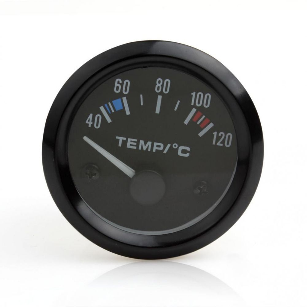Hot New 2inch 12V Universal Car Pointer Water Temperature Temp Gauge 40 - 120 White LED