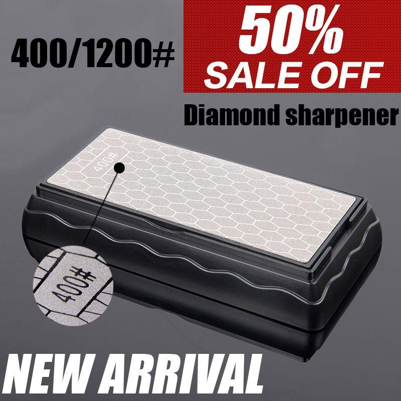 400 1000 1200 affûteuse professionnelle de couteau de cuisine de diamant de grain affilant la pierre pour un meulage fin et grossier de couteau