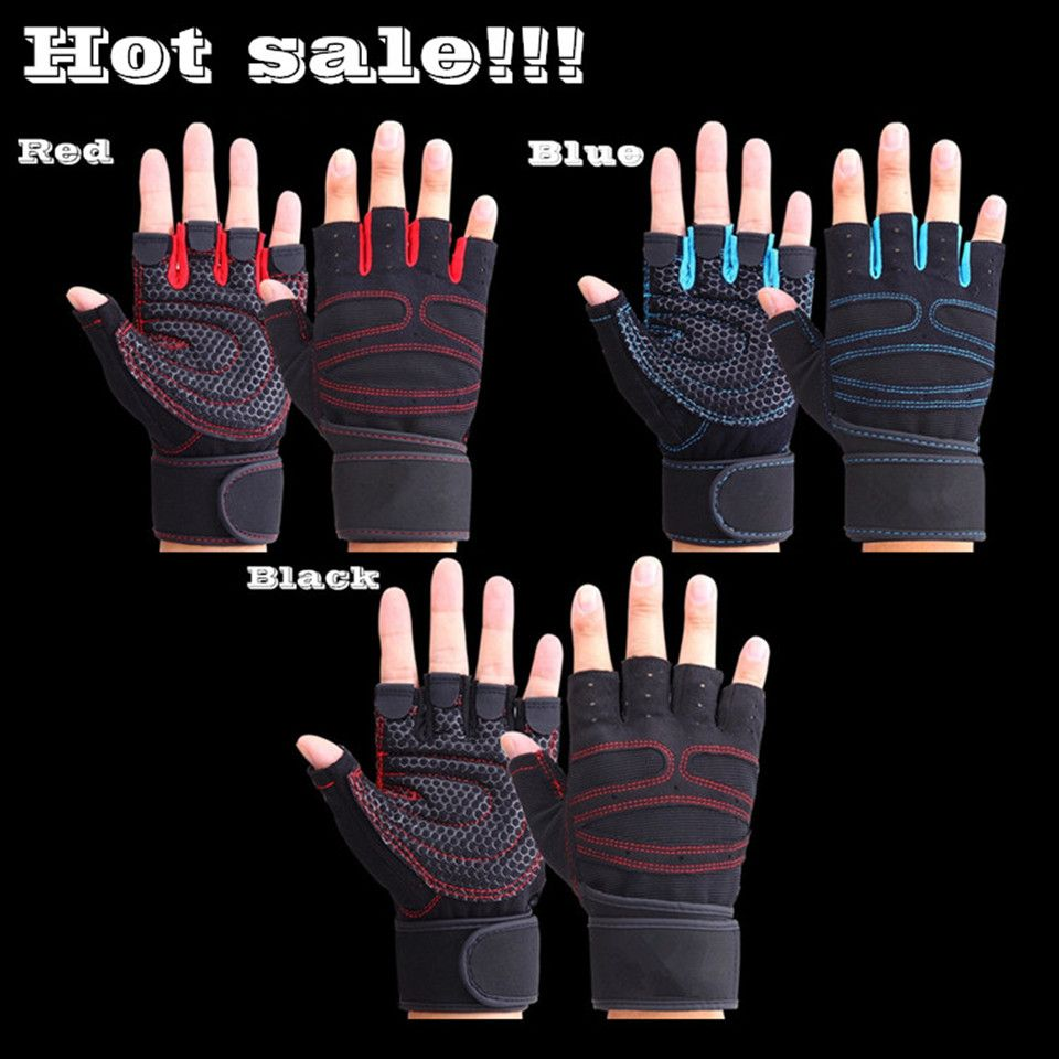 Sports  Fitness  Body Buliding Training Gym Gloves Multifunction Men Women Sweat Absorption Resistance Weightlifting Gloves L016