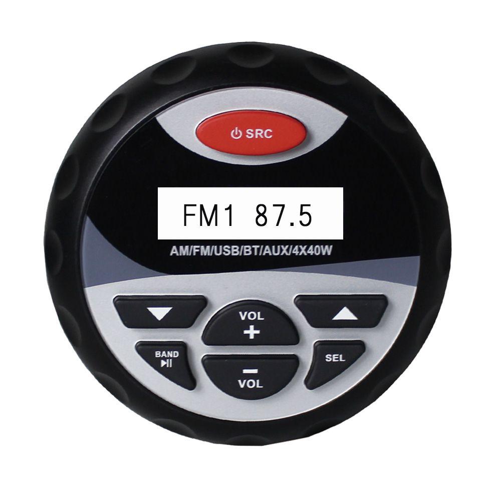 Marine Bluetooth Stereo Waterproof Radio AM FM Audio Car MP3 Player System USB&AUX Input For SPA ATV UTV Motorcycle Yacht Boat