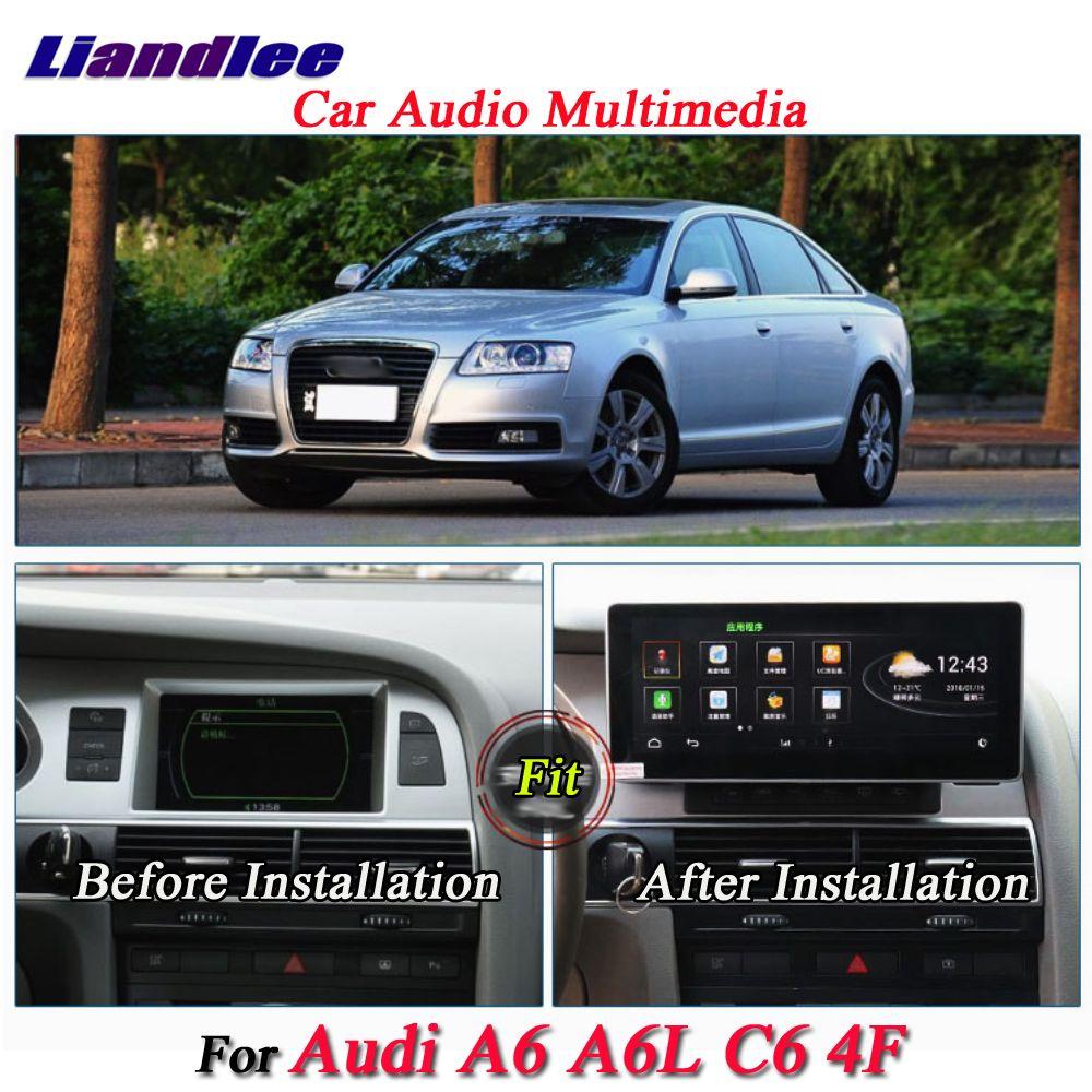 Liandlee Für Audi A6 A6L C6 4F 2002 ~ 2012 Android Original System Radio GPS Karte Navi Navigation Bildschirm Multimedia KEINE DVD-Player