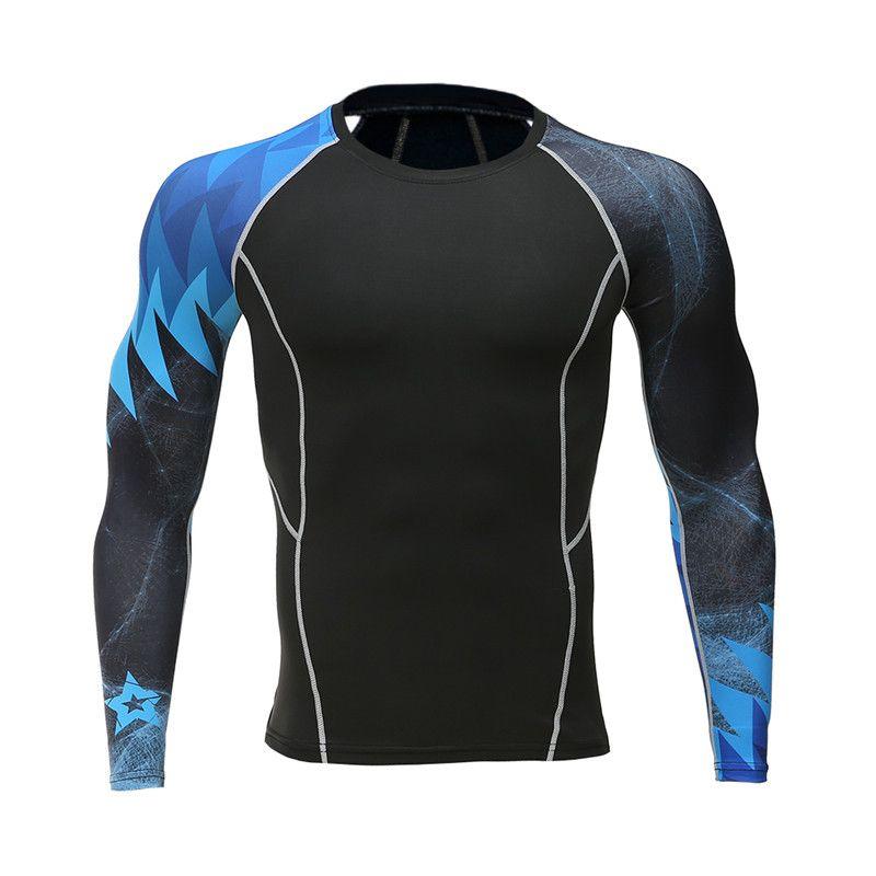 Vitesse vente grâce à la vente de 2017 nouveau homme gris T-shirt gymnases collants de remise en forme à séchage rapide ce rejoindre à manches longues T-shirt comprimé shir