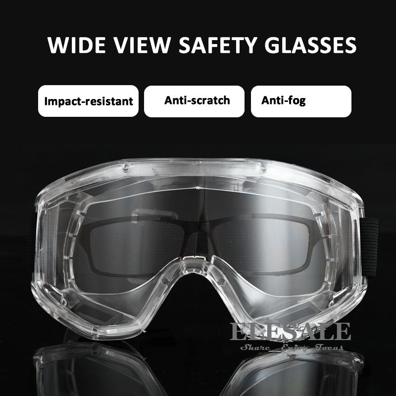 Transparent Safety Goggles Anti-Splash Impact-Resistant Work Safety Protective Glasses For Carpenter Rider Eye Protector