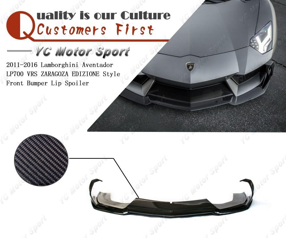 Kohlefaser VRS ZARAGOZA EDIZIONE Stil Frontlippe Fit Für 2011-2016 Aventador LP700 Front Lower Teiler Lippe