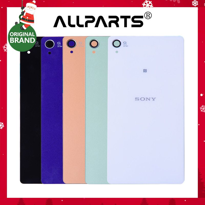 ORIGINAL New Housing For Sony Xperia Z3 Back Cover D6603 D6653 Battery Rear Door with Adhesive For Sony Xperia Z3 Battery cover