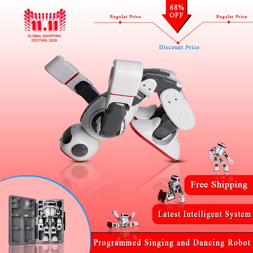 2018 WLtoys F8 Dobi Intelligent Humanoid Robot Voice Control RC Robot with Dance/Paint/Yoga/Tell Stories RC Toy Model on Sales
