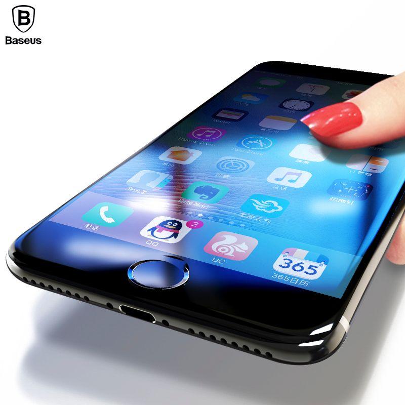3D Protecteur D'écran Pour l'iphone 8 7 6 6 s Baseus Premium Trempé verre Pour iPhone 8 7 6 6 s Plus Pleine Couverture De Protection En Verre Film