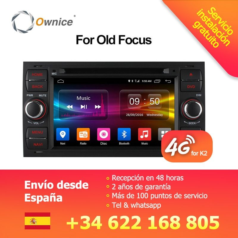 Ownice C500 Android 6.0 Octa 8 Core In Dash Car DVD Player For Ford Mondeo Focus Transit C-MAX GPS Navi Radio Support 4G LTE