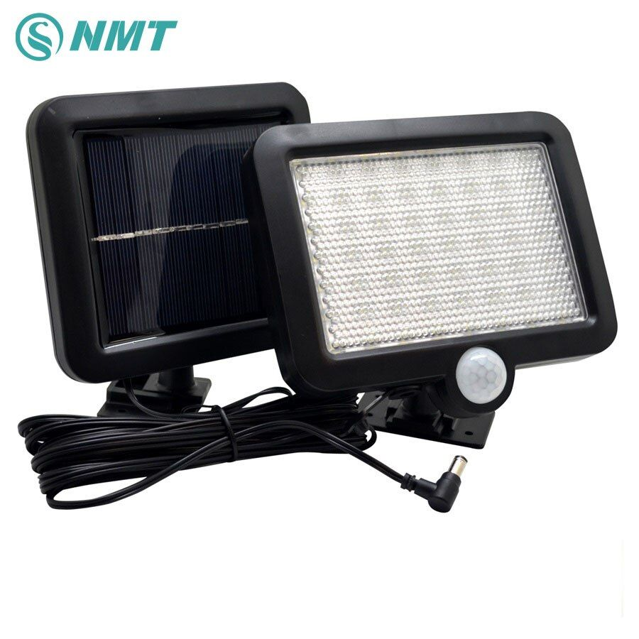 Solar Light 56Leds Outdoor LED Solar Powered <font><b>Body</b></font> Motion Sensor Solar Lamp Floodlights Garden Lawn Light Decoration