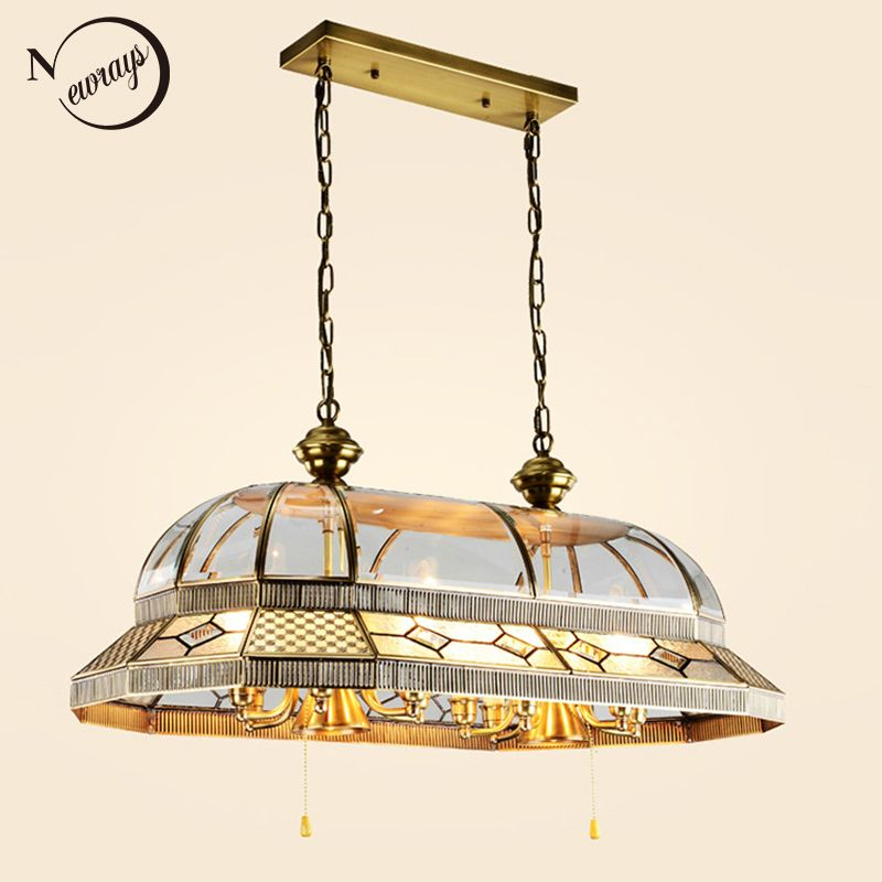 Europe Palace baroque style big antique copper pendant lights 14 heads pendant lamp LED E14 E27 for hotel resturont living room