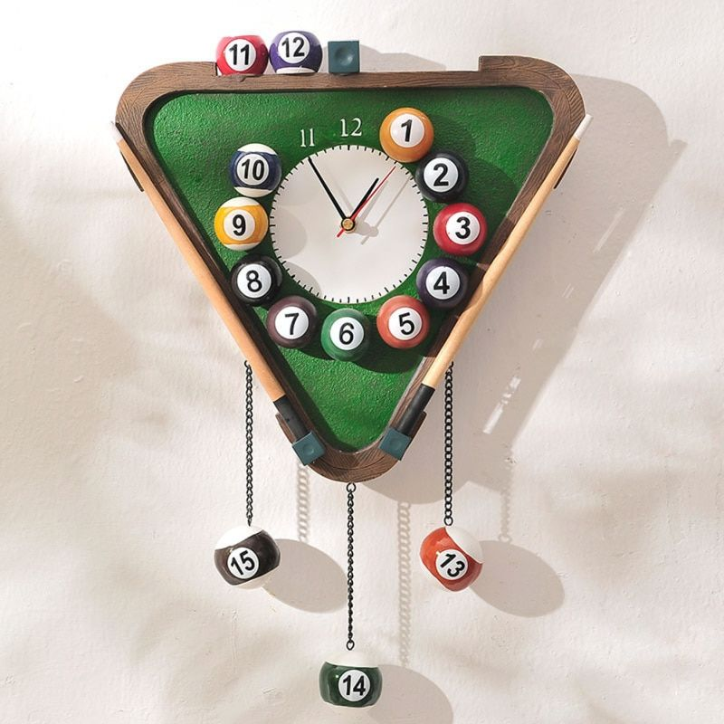 Novelty Modern Billiards shape Wall Clock fashion silent meeting room wall decor clocks home decoration watch wall V2