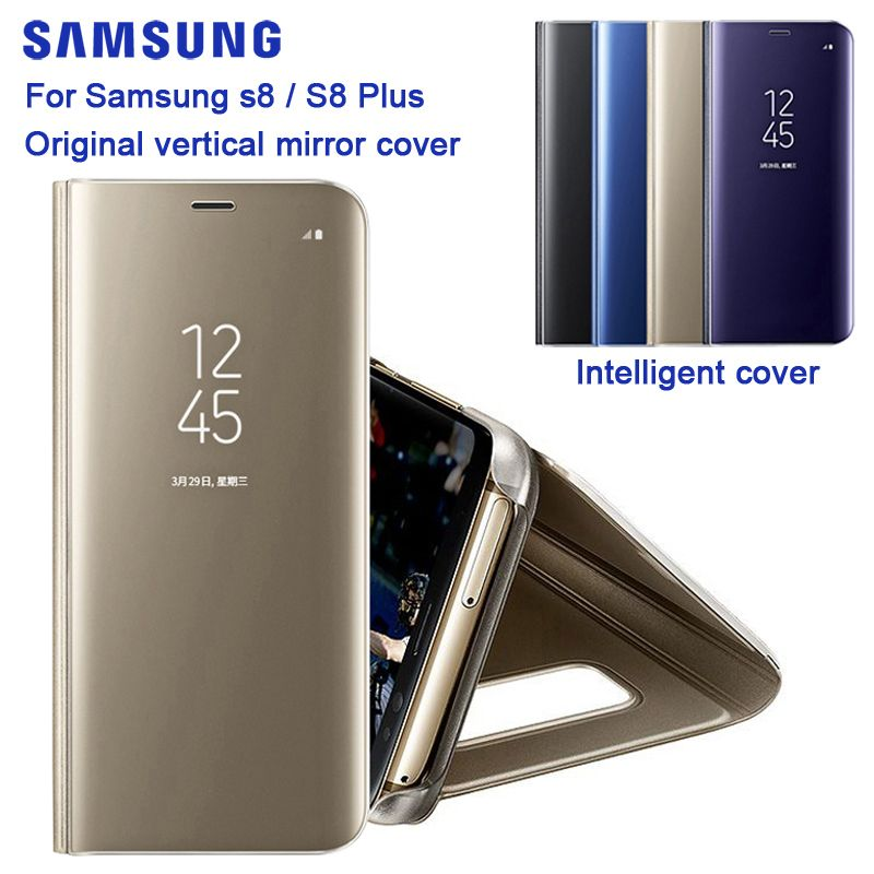 SAMSUNG Original Mirro Cover Clear View Phone Case EF-ZG955 For Samsung Galaxy S8 G9500 S8+ S8 Plus SM-G955 Rouse Slim Flip Case