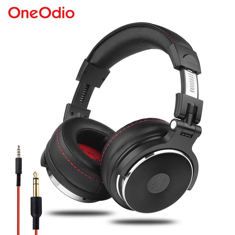 Oneodio casque professionnel filaire Studio Pro DJ avec Microphone sur l'oreille moniteurs HiFi casque de musique écouteur pour téléphone PC