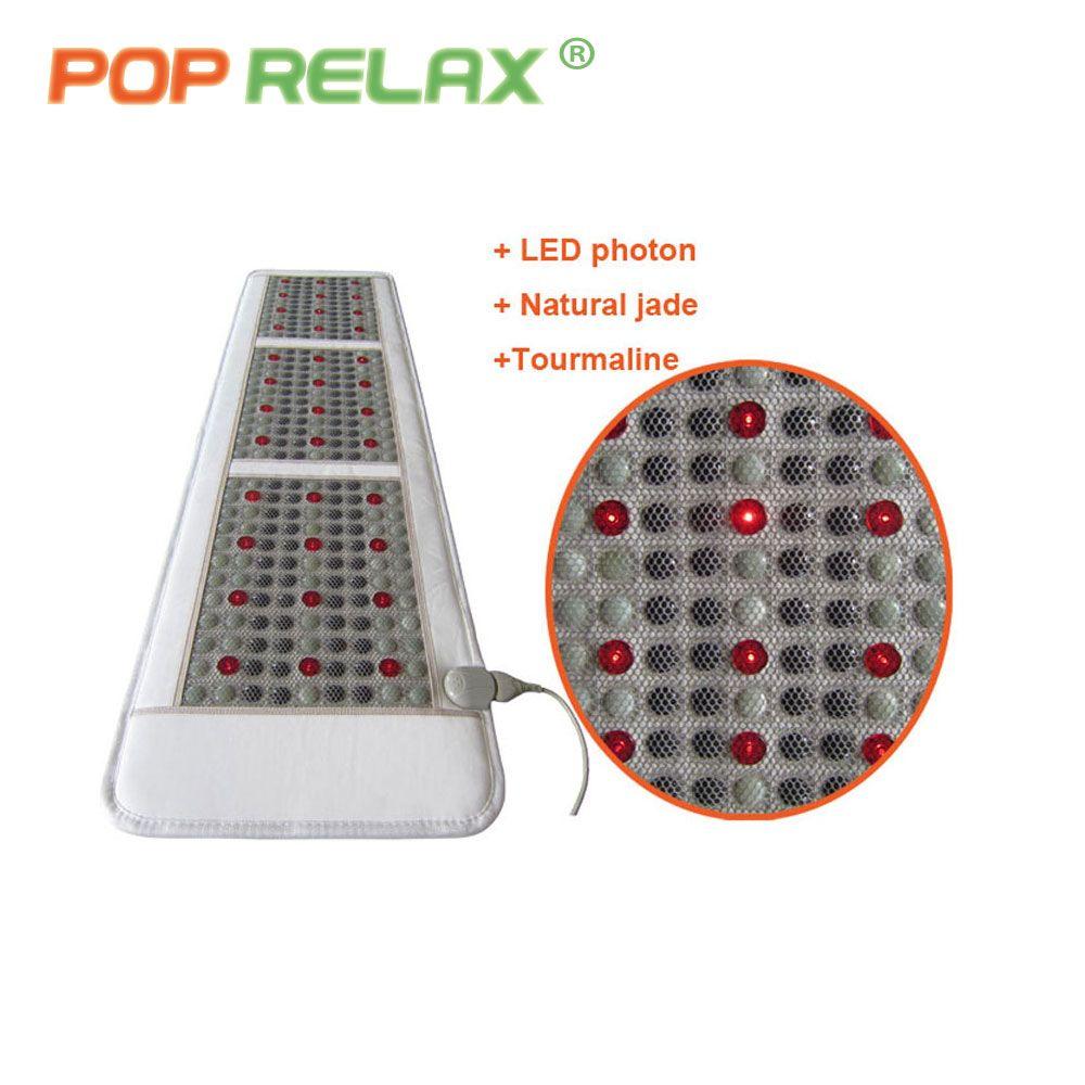 POP RELAX Корея качества здоровья матрас турмалин, нефрит светодиодный свет фотона терапии отопления физиотерапии коврик пихта камень массажн...
