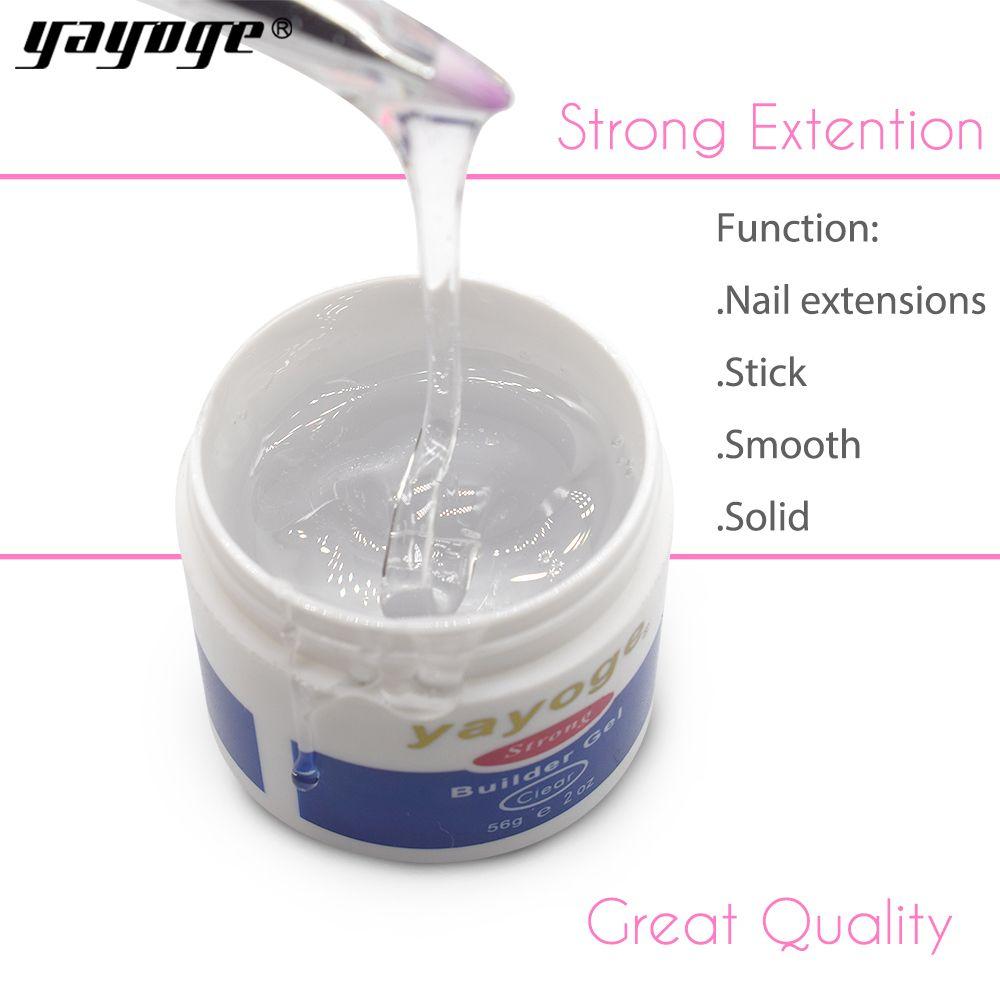 Yayoge 56 ml 7 couleurs résine builder gel set vernis à ongles art durcissement par uv led sèche-lampe Pour extension d'ongles