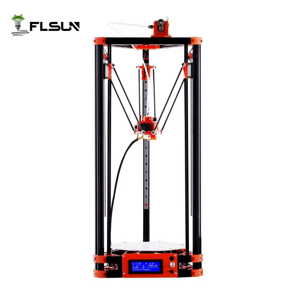 FLSUN Delta 3D Printer, Large Print Size 240*285mm 3d-Printer Pulley Version Linear Guide Kossel Large Printing Size