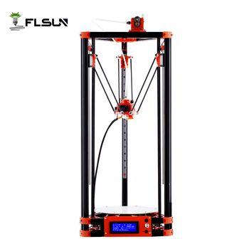 FLSUN Delta 3d принтер, большой размер печати 240*285 мм 3D-принтер шкив версия линейная направляющая коссель большой размер печати автоматическое вы...