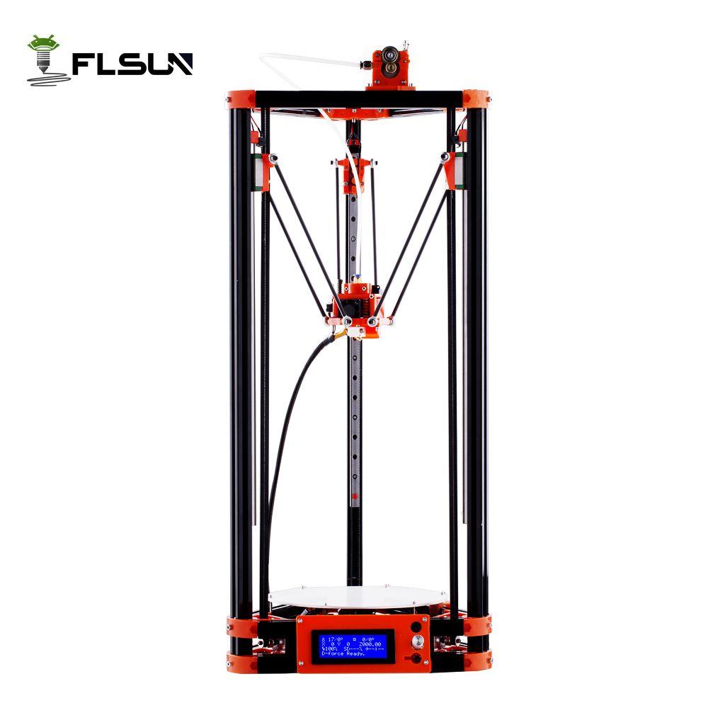 FLSUN Delta imprimante 3D, grande taille d'impression 240*285mm 3d-imprimante Version poulie Guide linéaire Kossel grande taille d'impression nivellement automatique