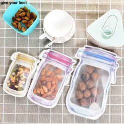 10 pieces Mason Jar Pattern Food Saver Storage Bags Set kitchen organizer Children's snacks Snacks fresh bags Food storage Bags