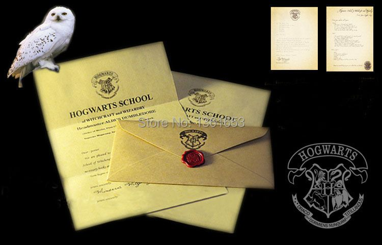 Halloween party gift HP fans the letter of admission at hogwarts for adult and children Surprise birthday Present