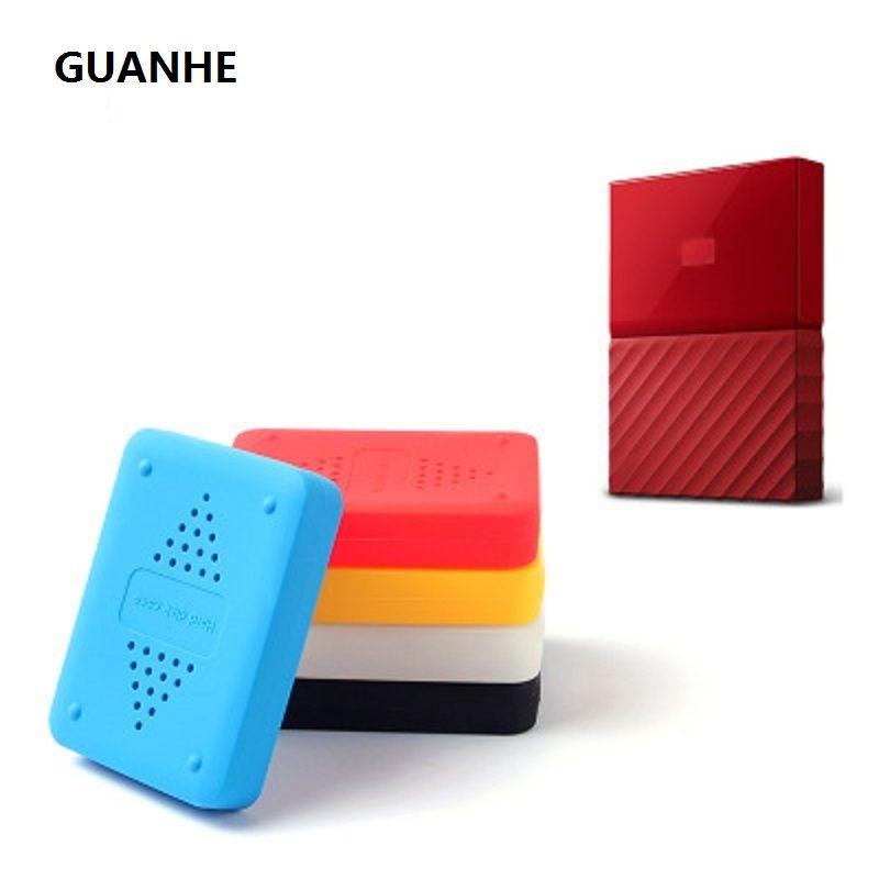 GUANHE Shake-proof drop-widerstand Elastische Silikongummi Fall Für WD My Passport 1 t 2 T