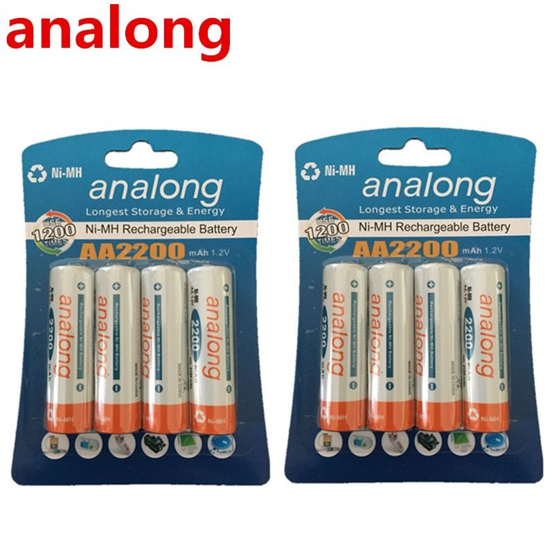 Analong faible autodécharge Durable AA batterie 1.2 V 2200 mAh Ni-MH Batteries rechargeables 1.2 V Batteries