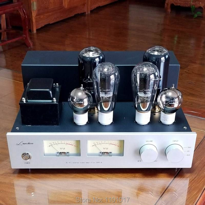 LaoChen 845 Tube Amplifier HIFI EXQUIS Single-Ended Class A 300B 6SN7 Driver Flagship Lamp Amp