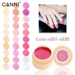#501-530 CANNI nail sèche-pur couleur UV Gel Laque Vernis 141 couleurs Durables Couleurs Pures UV led ongles 5 ml Gel peinture