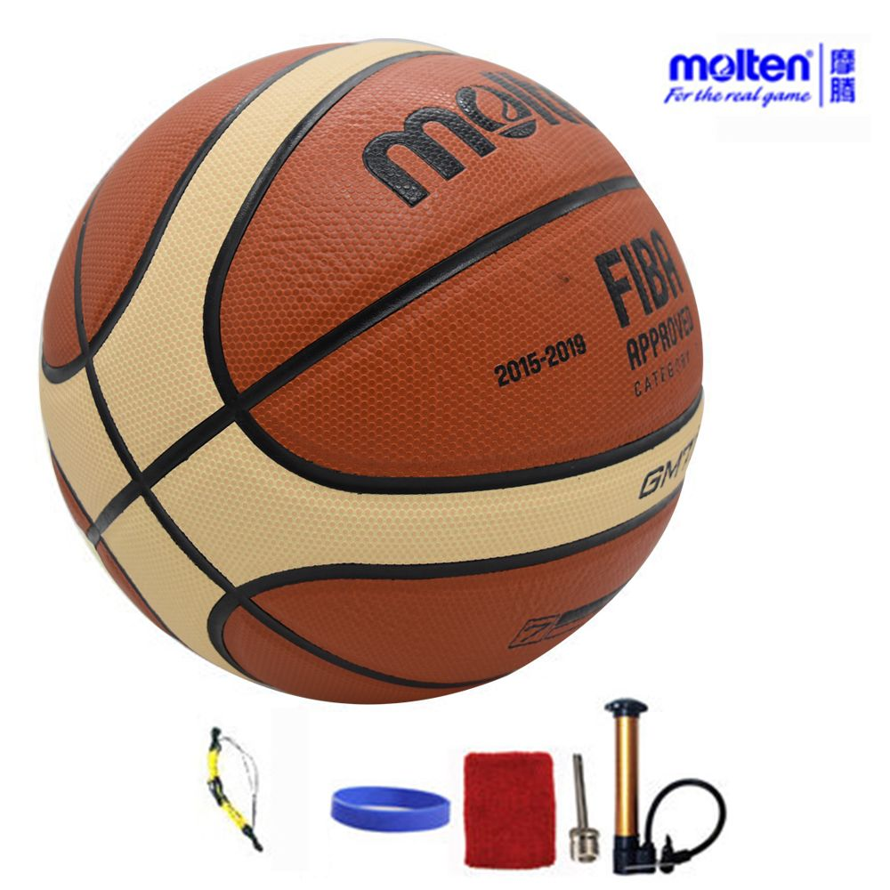 Original Molten Basketball Ball GM7X BGM7X 2017 NEW High Quality PU Leather Size 7 indoor Basketball With ball Net+Pin+Needle