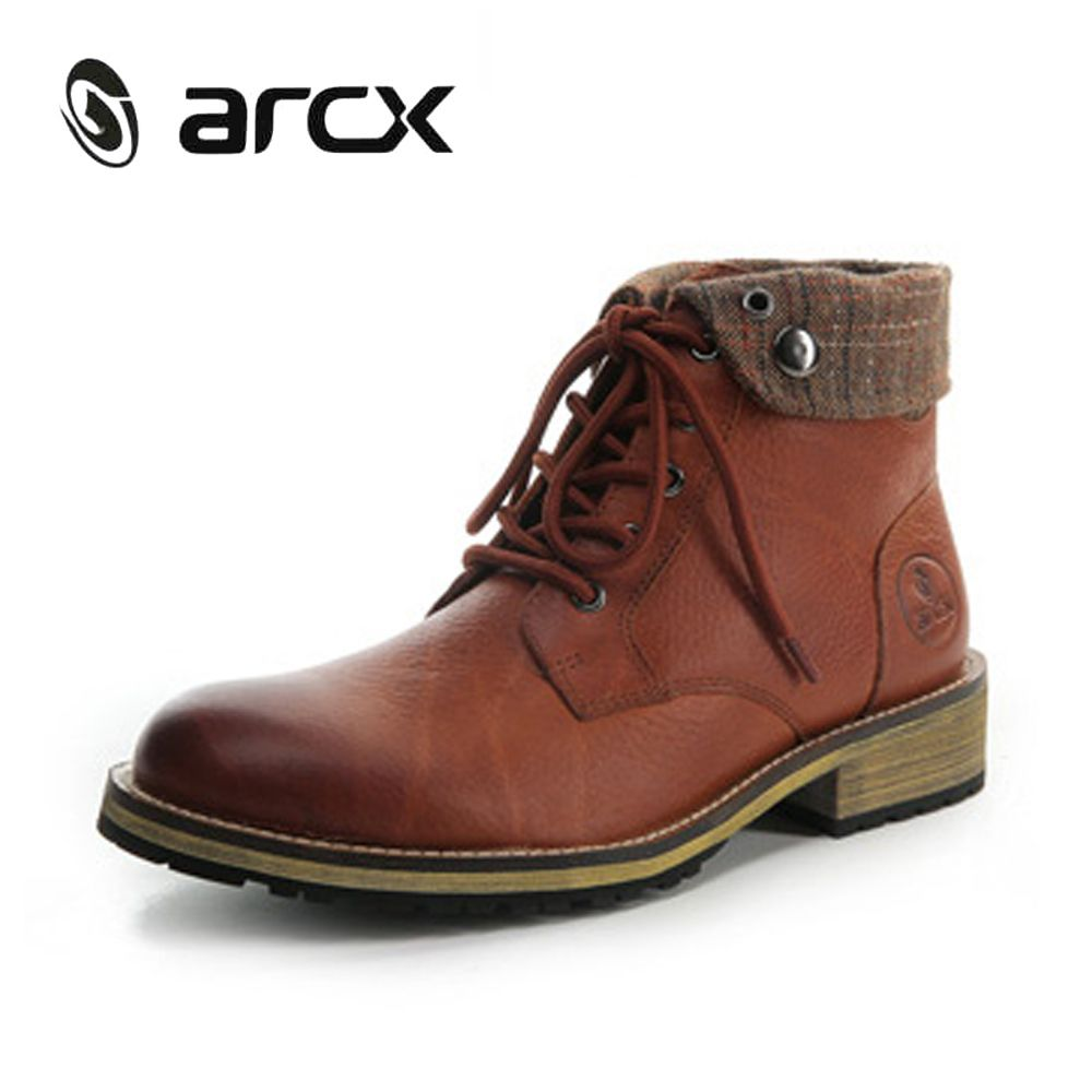 ARCX Motorcycle Riding Shoes Motorcycle Boots Lapel Moto Boots Men Leisure Shoes Road Biker Motorbike Casual Boots Shoes